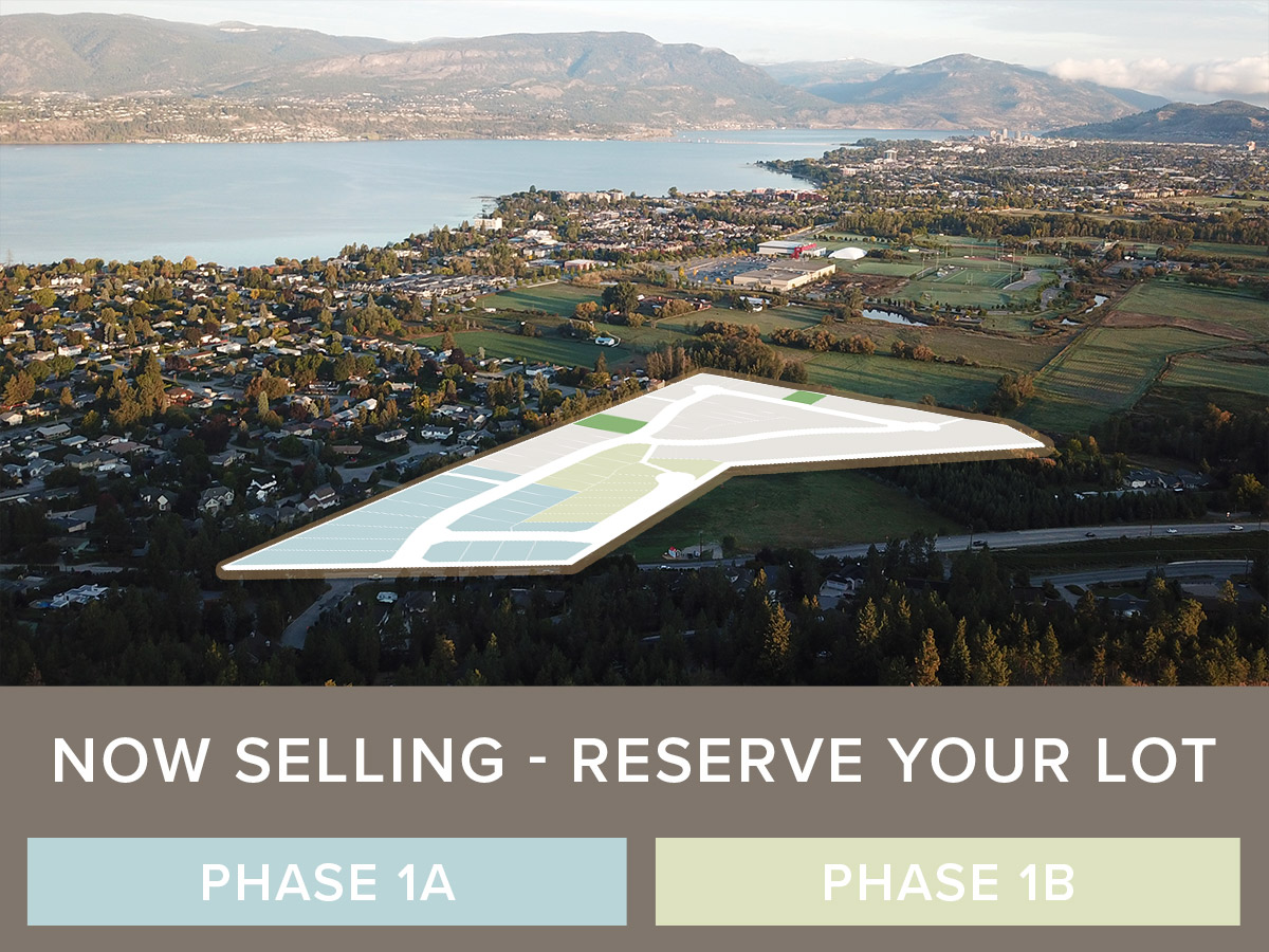 Kelowna Lower Mission Home Lots For Sale at The Orchard in the Mission