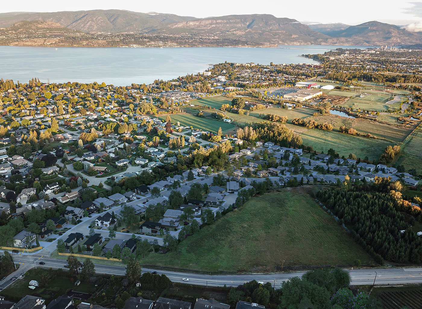 The Orchard Kelowna Aerial view - Pick your lot for sale in Kelowna's Lower Mission