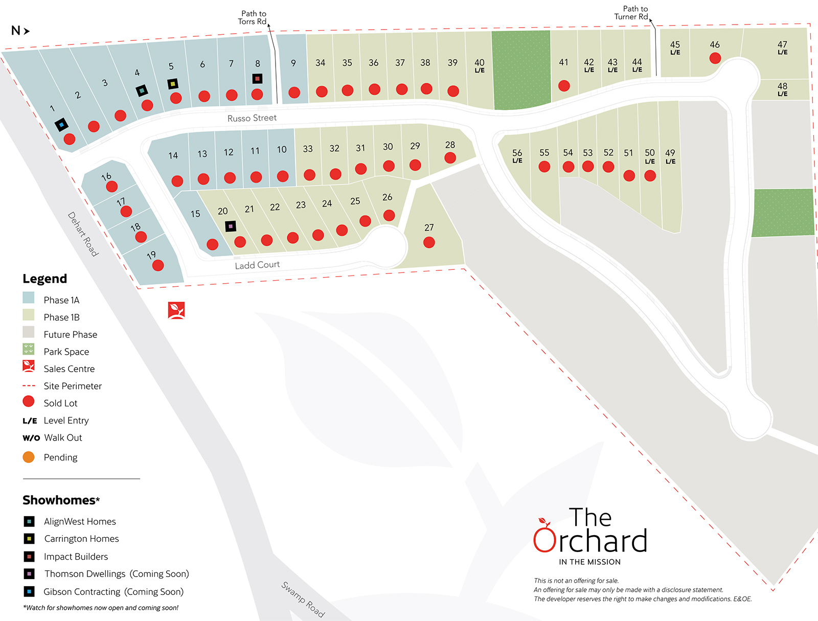 The Orchard Lots Map - June 2021