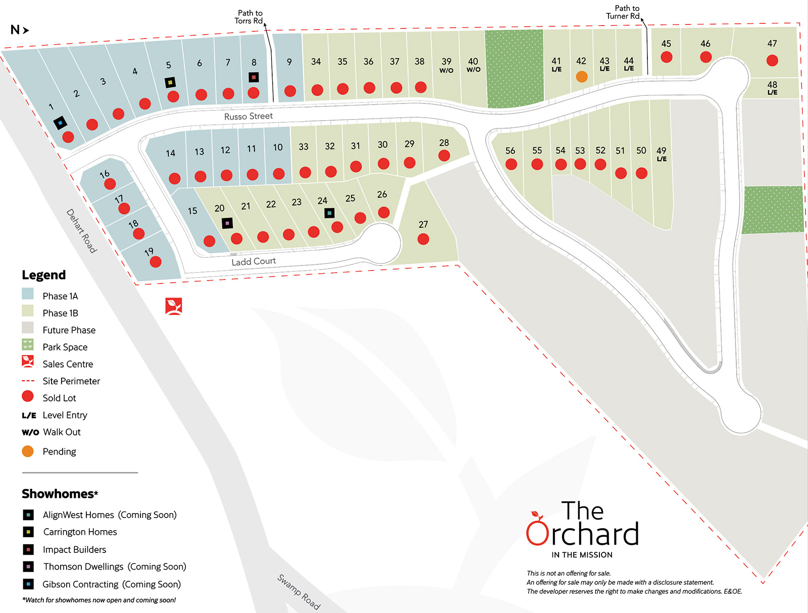 The Orchard Lots Map - September 2021